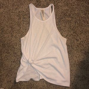 White Free People halter tank top